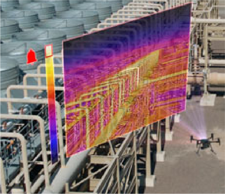 Thermal inspection using Infrared Drones